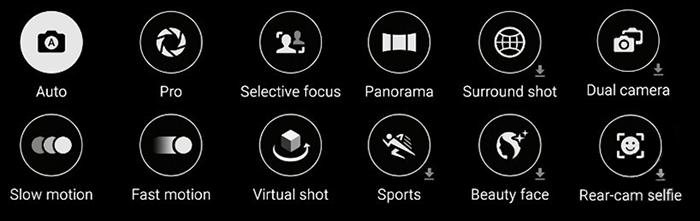 Moduri de fotografiere disponibile la Galaxy S6 si S6 Edge