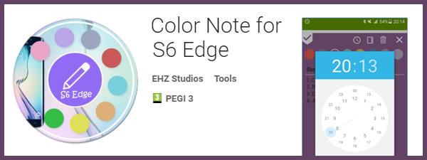 Color Note Samsung S6 Edge