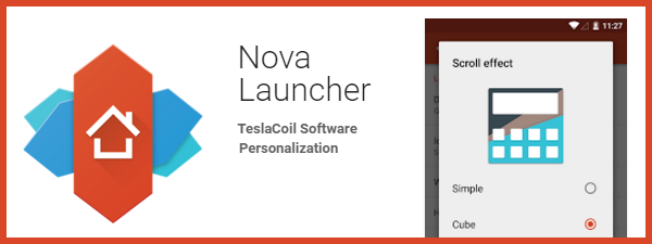Nova Launcher pentru Samsung S6 Edge