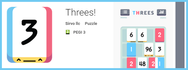 Threes! pentru Samsung S6 Edge