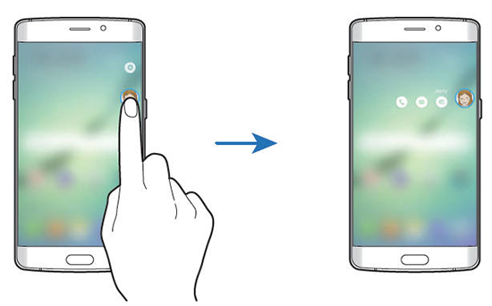 Cum să contactezi persoanele din My People pentru ecranul lateral a lui Galaxy S6 Edge