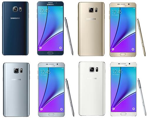 Samsung Galaxy Note 5 - Disponibilitate Culori