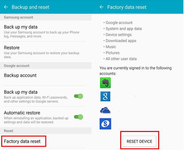 Cum se poate reseta Galaxy S6 și Galaxy S6 Edge atunci când telefonul se poate utiliza