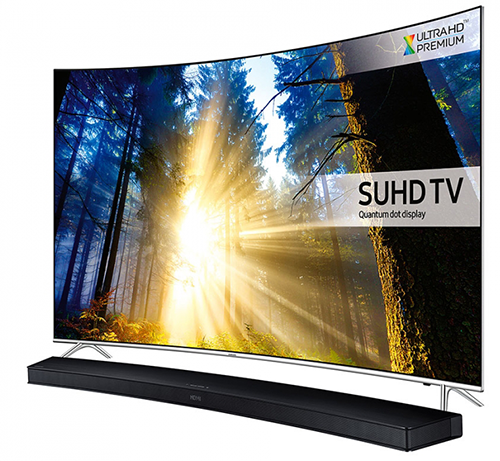 Smart TV Curbat Samsung KS7500 4K UltraHD - cu soundbar