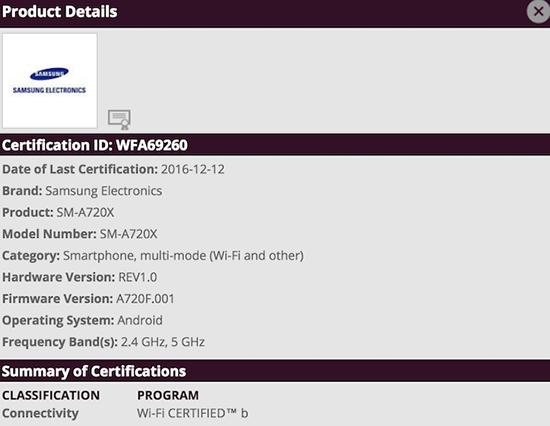 galaxy-a7-2017-certificat-wi-fi
