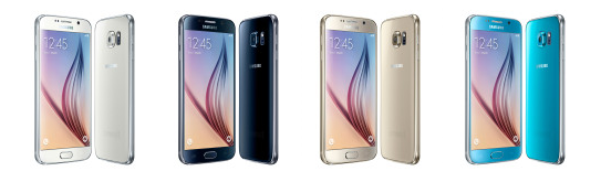 Samsung Galaxy S6 - 4 culori diferite White Pearl, Black Sapphire, Gold Platinum, Blue Topaz - ilovesamsung
